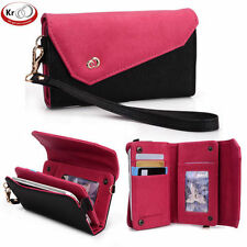 Kroo Clutch Wristlet with Shoulder Strap for Smartphone up to 5 Inch