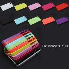 DIY Deco Candy Color Hard Back Plastic Case Cover Skin For Apple iPhone 4 4S Lot