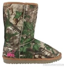 REALTREE GIRL XTRA GREEN CAMOUFLAGE LADIES MUKLUK BOOTS - LICENSED CAMO CARSON