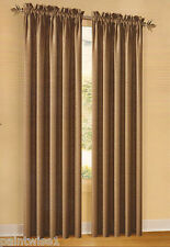 "2 Curtain Drapery Panels Rod Pocket 80 x 84 ""Heather""  Swirl texture"