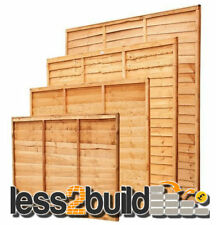Treated Wooden Lap Fence Fencing Panel-Select Size from 3ft,4ft,5ft&6ft