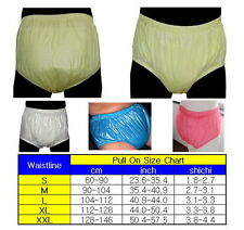 Adult PVC pants without absorbant cloth Waterproof Diaper :W01