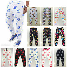 Men Women White EMOJI Funny Autumn Winter Printed Thicken 3D Sports Jogger Pants
