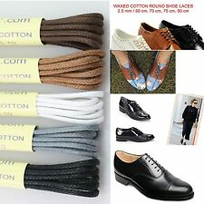 Round Wax Cotton Thin Shoe Laces 2.5mm