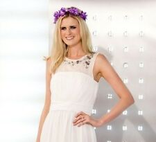 BNWT H&M White Long Wedding Evening Dress With Sparkly Stones Size UK10