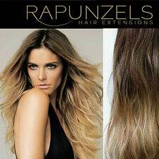 Clip In ombre dip dye remy human hair extensions DIY half head, full head 20""