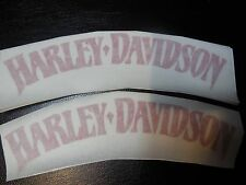 SET 2x6 INCHES OF HARLEY DAVIDSON TANK DECALS RED IN COLOR