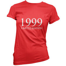 1999 Limited Edition - Womens 17th Birthday Present / Gift T-Shirt - 11 Colours