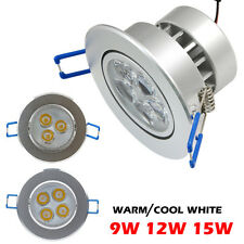 Energy Save LED Ceiling Recessed Downlight Spot Light 9W 12W 15W Cabinet Lamps