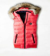 NEW American Eagle Outfitters Womens Down Puffer Vest Neon Pink - XXS, XS