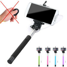 Wired Remote Shutter Selfie Monopod Stick Extendable Handheld For IOS Android