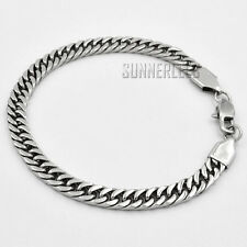 4/6/8mm Fashion Jewelry Men Boy Curb Cuban Link Chain Stainless Steel Bracelet