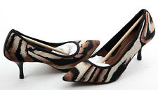 NEW $198 DONALD J PLINER ROZA WOMENS TIGER PRINT STRETCH POINTED TOE PUMPS SHOES
