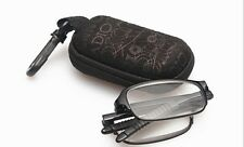 RG51 Black Folding,Bendable TR90 Reading Glasses with Case + Cloth +1.5+2.0+2.5