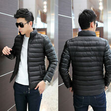 Fashion New Winter Warm Men's Down Slim Jacket Coats Outdoor Top Black