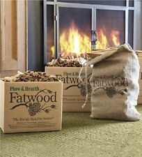 Fatwood Firewood Firestarter 4 Fireplace Pine Resin Wood Kindling Stove Campfire