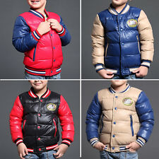 New Fashion winter Warm boy coats Children Outerwear Kids boy's down jacket coat