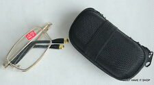MT02Z Folding Metal Reading Glasses,Gold Tip with Case +,Cloth +1.50 +2.00 +2.50