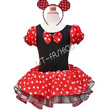 Kids Girls Baby Toddler Minnie Mouse Birthday Party Costume Ballet Tutu Dress Up