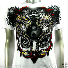 Artful Couture T-Shirt Sz M L XL XXL Kirin Dragon Yin Yang Tattoo Rock AW67 D1