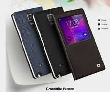 Samsung Galaxy Note 4 Genuine Leather Luxury QIALINO Slim Flip Smart Case Cover
