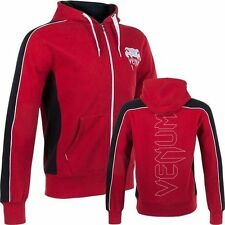 Venum Mens Elite Zip Up Hoody Red Jacket Hoodie MMA Martial Arts Clothing