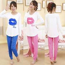 Women Cotton Long Sleeve Pyjamas Set Ladies Winter Pjs Nightwear Sleepwear 10-18