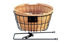 NEW Vintage Bicycle FRONT Cane Basket with Black frame REID CYCLES