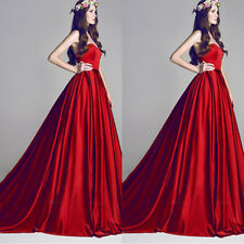 Long Formal Ball Gown Party Prom Bridesmaid Evening Dress Size 6-8-10-12-14-16