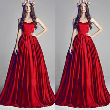 Long red Sleeveless Backless Mermaid Prom Dress Party Gown Formal Evening Dress