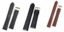 Padded Long Buffalo Grain Leather Watch Strap With Buckle