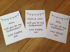 Request Cards Will you be my, Thank you for being my Godparents Godmother/father