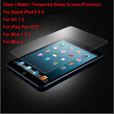 Tempered Glass / Clear / Matte Film Screen Protector For iPad Mini 2 3 4 Air Pro