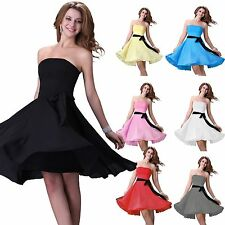 best discount~ Short Chiffon Evening Homecoming Prom Gown Bridesmaid Party Dress