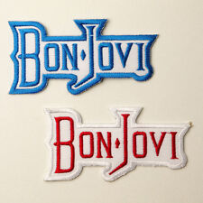 BON JOVI - Patch SET OF TWO Embroidered Iron-On Patches - UK - FREE POST