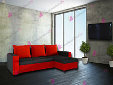 CORNER sofa bed OSCAR in BLACK and RED  colour @@@LOOK NEW@@@