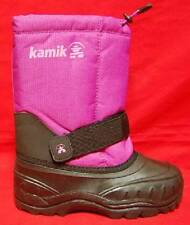 Girl's Youth's KAMIK Pink/Black Waterproof Winter Slip On Snow/Rain Boots New