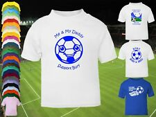 BURY Football Baby/Kids/Childrens T-shirt Top Personalise-Any colour-Name&Number