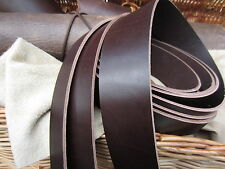 """75"""" LONG DARK BROWN 3.5mm THICK STRIP REAL LEATHER STRAP COW HIDE VARIOUS WIDTH"""