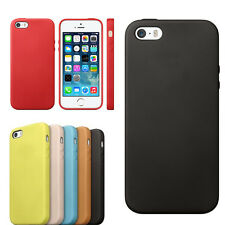 New Slim Luxury Fashion Genuine Leather Case Back Cover For iPhone 5S/5 Original