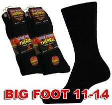 Mens Big Foot Thermal Socks Big Foot Thermal Mens Black Socks 3 Pairs Mens Socks