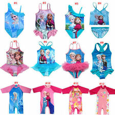 Girls Swimwear Swimsuit 2-9Y Tankini Bathing Pool Elsa Swimming Anna Kids New