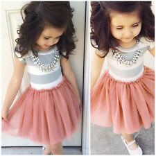 Kids Children's Clothing Princess Dress Baby Girls Stripe Short Sleeve Dresses