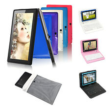 """7"""" A33 Quad Core 8GB Tablet PC Google Android 4.4 Dual Cam WiFi w/ Keyboard +Bag"""