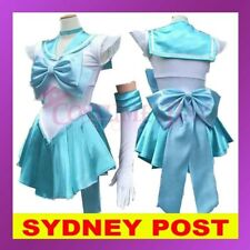 Light Blue Sailor Moon Costume Cosplay Uniform Fancy Dress Up Hens Party Outfit