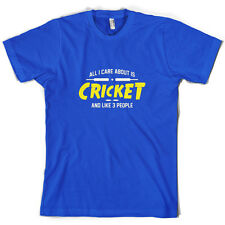 All I Care About Is Cricket - Mens T-Shirt - Player - Ashes - 10 Colours