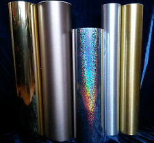 Plotter foil Chrome film Mirror film brushed Foil Self Adhesive gold silver
