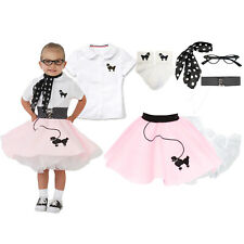 Hip Hop 50s Shop Toddler 7 pc Poodle Skirt Outfit Halloween Costume Set