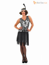1920s Cocktail Dress Costume Ladies Flapper Fancy Dress Charleston Gatsby Outfit