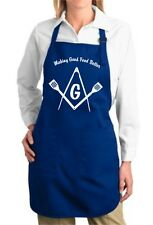 Lot of 5 Masonic Freemason BBQ cooking aprons